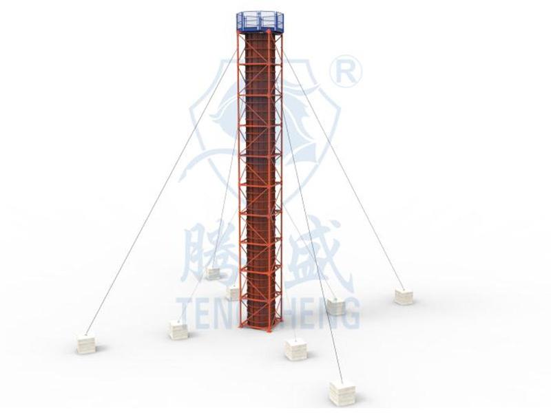 圆柱施工平台